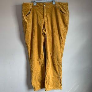 GUC Womens size 24 Mustard Corduroy Pants